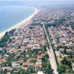 Vom Asprovalta Strand, in Richtung Tehessaloniki   I
